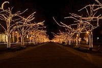 Подключение освещения зданий в Новодвинске